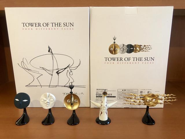 태양의 탑 4개의 얼굴 피규어