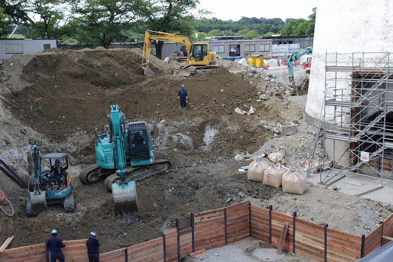 増築棟:建設中の模様